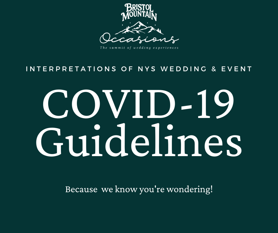 Interpretations of NYS Wedding & Event COVID-19 Guidelines. Because we know you're wondering!